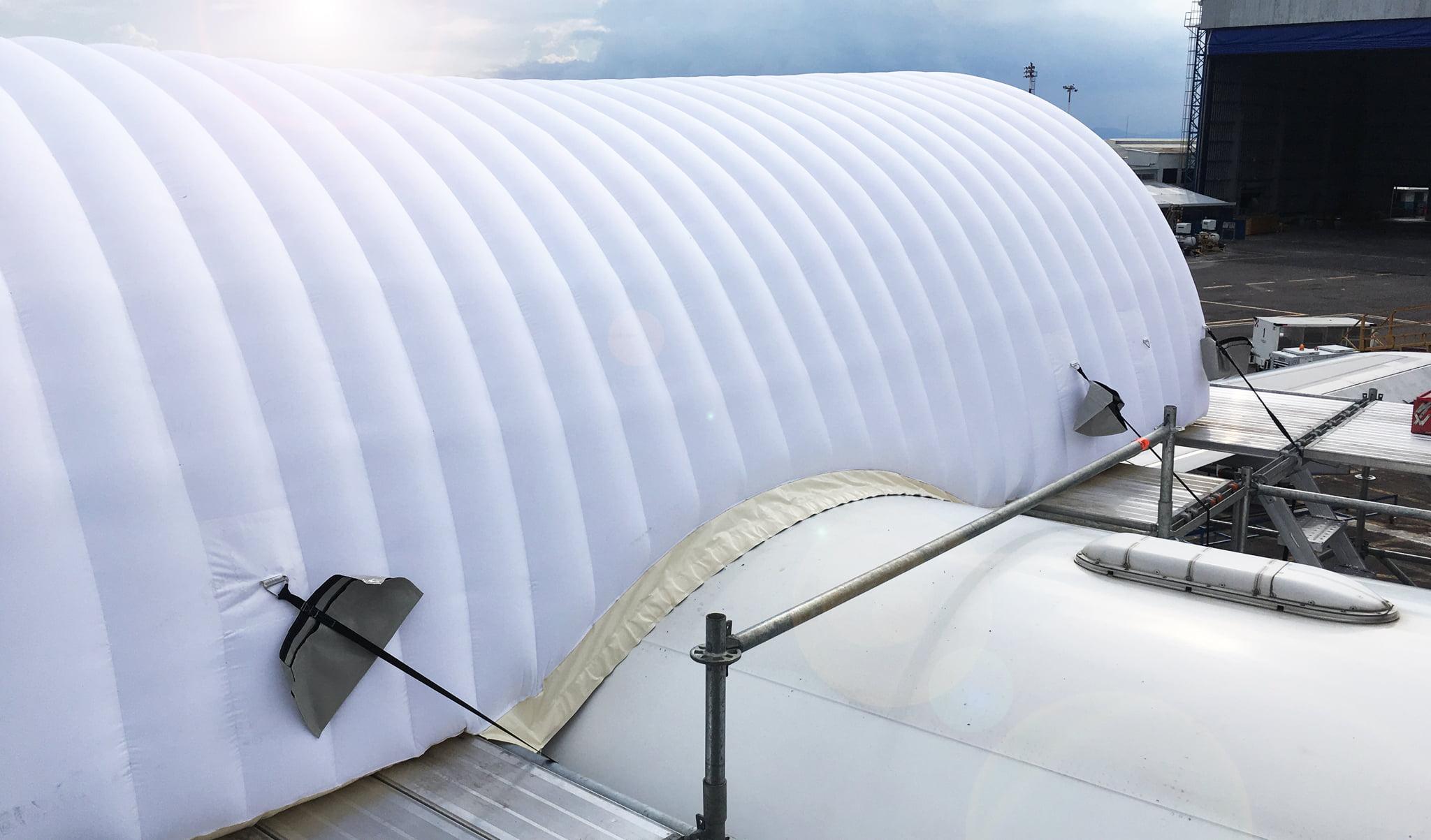 Fuselage repair shelters